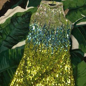 Other - Green sequin halter dress costume